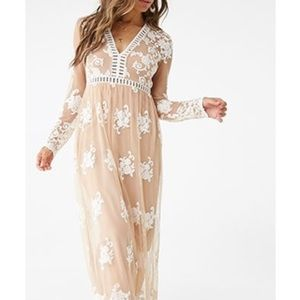 Forever 21 embroidered maxi dress - NWT
